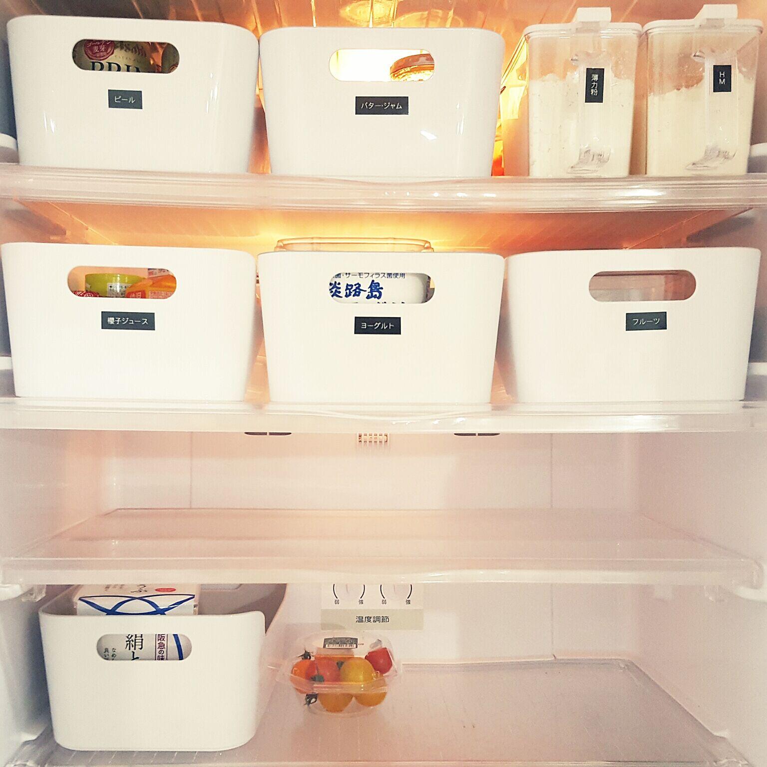 小さいサイズのヴァリエラボックスは、冷蔵庫の中の収納にもぴったりなアイテムです。ラベルシールを貼れば、何が入っているのがひと目でわかり、冷蔵庫の開閉時間も短縮出来そうです。