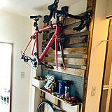 ロードバイク収納の写真