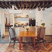 「理想のヘリンボーン床を実現へ!すべて自分好みのワンルームリノベ。」 by kankoさん