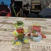 ねこのいる風景/紙粘土工作/紙粘土工作で猫/机/次の紙粘土工作進行中のインテリア実例 - 2021-03-04 23:52:27
