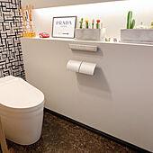 オシャレトイレ/巾木は黒/シックなトイレ/シック/グレーの壁紙...などのインテリア実例 - 2020-09-21 10:27:58