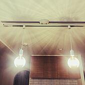 ダクトレール/LEDフィラメント電球/カインズ/キッチンのインテリア実例 - 2021-09-19 01:33:56