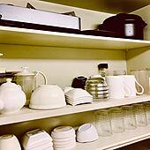 キッチン収納/キッチンの工夫/形やデザインはバラバラ/プチプラ/統一感重視...などのインテリア実例 - 2021-03-28 08:51:46