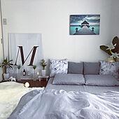 ホテルライク/フェイクグリーン/ムートン/観葉植物のある部屋/ポスターのある部屋...などのインテリア実例 - 2020-09-25 22:56:40