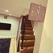 二面時計/アイアン手摺/階段/リビング/両面時計...などのインテリア実例 - 2021-01-17 23:22:57