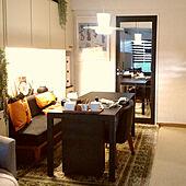 部屋全体/ドアリメイク/格子DIY/ミラーマット/IKEA...などのインテリア実例 - 2021-06-18 13:53:23