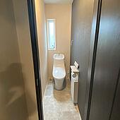 トイレの壁/トイレ/アクセントクロス/木目調/黒...などのインテリア実例 - 2021-05-03 12:30:57