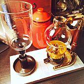 コーヒー道具/DIY作品/DIY/タイル/サイフォン...などのインテリア実例 - 2015-01-24 21:00:47
