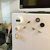 キッチン/冷蔵庫のマグネット/キッチンタイマー/無印良品/100均のインテリア実例 - 2021-08-01 20:33:45