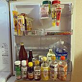 冷蔵庫収納/ひとり暮らし/ダイソー/掃除がしやすい/冷蔵庫...などのインテリア実例 - 2021-05-05 10:22:53