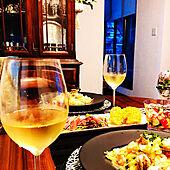 RCの出会いに感謝♡/GAVI/白ワイン/SHIORIさんのトマトとバジルのマリネ/シーフードパスタ(ホタテ・エビ・シャケ)...などのインテリア実例 - 2021-06-24 03:56:37