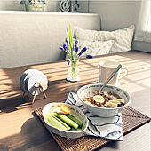 朝食/プチ贅沢/ディスプレイ棚/グレイッシュ/グレーホワイト...などのインテリア実例 - 2021-04-07 08:14:02