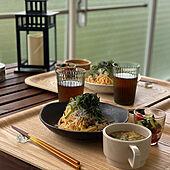 昼ごはん/ガーデンファニチャー/食器/IKEA/ベランダ...などのインテリア実例 - 2021-05-08 13:49:45