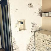 モルタル造形風/シャビー/シャビーシック/漆喰壁DIY/漆喰うま~くヌレール...などのインテリア実例 - 2021-05-07 12:17:51