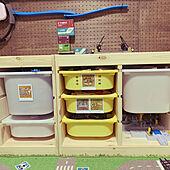 プラレール/おもちゃ収納/セリア/100均/IKEA...などのインテリア実例 - 2021-06-18 09:42:02