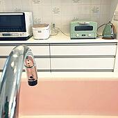 タイル好き/ピンクのシンク/キッチン/平屋の家/キッチンのインテリア実例 - 2020-04-06 14:57:00