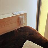 ベッド周り/照明/DIY/一人暮らし/ナチュラル...などのインテリア実例 - 2020-04-08 09:48:18