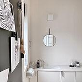 トイレの鏡/トイレインテリア/バス/トイレ/morasanちゃんのポストカード/清潔感...などのインテリア実例 - 2021-06-17 22:56:07