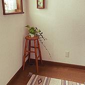 玄関マット/スツール/観葉植物/窓/玄関/入り口...などのインテリア実例 - 2021-05-25 21:54:32