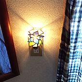 わが家の明かり/照明/ステンドグラス/雑貨/ランプ...などのインテリア実例 - 2021-08-01 13:51:11