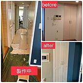 ドア塗装DIY/休日の過ごし方/ゴールドが好き/イマジンウォールペイント/棚のインテリア実例 - 2021-07-24 11:23:35