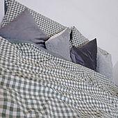 ベッド周り/寝室/ベッドカバー/グリーン/クッション...などのインテリア実例 - 2021-02-24 13:41:21