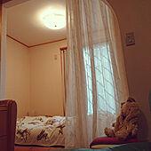 ベッド周り/ナチュラルインテリア/レースカーテン/シーリングライト/IDC大塚家具...などのインテリア実例 - 2021-06-02 15:44:18
