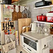 マグネット/見せる収納/暮らし/カフェ風インテリア/カフェ風キッチン...などのインテリア実例 - 2020-10-16 11:28:00