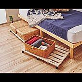 ベッド下のスペース/ベッド下/ベッド下収納/キャスター付き収納/ベッド周り...などのインテリア実例 - 2021-08-05 11:01:41