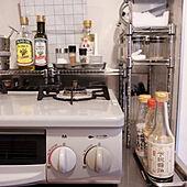 キッチン/コンロ周り/ガスコンロ周り/調味料収納/調味料ラック...などのインテリア実例 - 2021-04-19 13:29:10