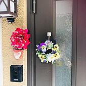 手作りリース/玄関/入り口のインテリア実例 - 2021-04-21 15:10:23