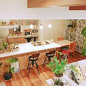 バーチェアー/観葉植物/キッチンカウンター/部屋全体のインテリア実例 - 2020-04-09 22:50:21