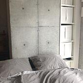 1K/シンプル/グレー/IKEA/ベッド周りのインテリア実例 - 2020-04-05 15:12:32