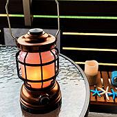 バルコニー/ベランダ/ランタン風ライト/おうちアウトドア/ニトリの棚...などのインテリア実例 - 2021-05-11 19:03:44