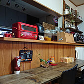 キッチン/キッチン/カフェ風/シーリングライト/BRUNO...などのインテリア実例 - 2020-03-28 13:49:01