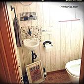 トイレットペーパーホルダー/トイレ/アンティーク/古道具/JUNK...などのインテリア実例 - 2020-10-10 10:17:15