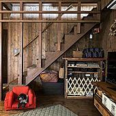 リビング階段/ケージDIY/DIY/いぬのいる暮らし/BESSの家...などのインテリア実例 - 2021-03-22 10:55:21
