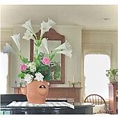 植物のある暮らし/庭の花を生ける/季節を感じる暮らし/自然を感じる暮らし/鏡...などのインテリア実例 - 2021-07-08 18:18:41