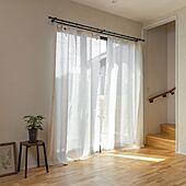 癒しのある空間/サスティナブルな暮らし/自然素材のカーテン/木漏れびのあるリビング/無垢の床...などのインテリア実例 - 2021-04-26 16:30:16
