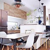 ウォルナット色/立ち上がり壁/セラミックテーブル/ステディア/キッチンカウンター...などのインテリア実例 - 2021-07-10 07:39:09