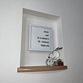 スヌーピー/ダイソー雑貨/インターホンカバー/インターホン隠し/100均...などのインテリア実例 - 2020-01-10 14:45:22