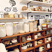 陶芸家の器/調味料棚/食器収納/食器好き/食器...などのインテリア実例 - 2021-05-19 22:23:18