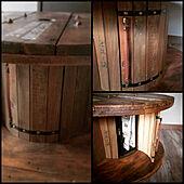 部屋全体/木製/DIY/ケーブルドラム/壁紙シート...などのインテリア実例 - 2020-04-09 18:06:46