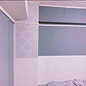 壁紙/リメイクシート/寝室インテリア/寝室/マンション...などのインテリア実例 - 2021-09-21 20:51:17