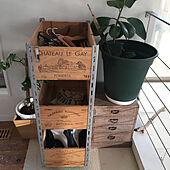 IKEA/ワイン木箱/ワイン箱/DIY棚/モンステラ...などのインテリア実例 - 2021-03-03 16:44:08