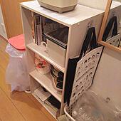 キッチン/カラボ/エコバッグ/1K ひとり暮らし/収納のインテリア実例 - 2020-07-04 19:49:32