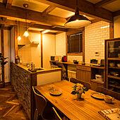 キッチン/木の家/flame/吹き抜けリビング/ヘリンボーンの床...などのインテリア実例 - 2019-11-04 16:52:25