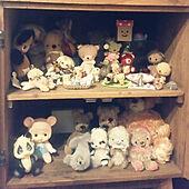 棚/人形 ぬいぐるみ/飾り棚/作家物/コレクション...などのインテリア実例 - 2018-05-12 13:24:58