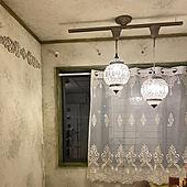 過去の私のバカ/カーテン大失敗/天井も塗りますよ/壁は塗装しました/アンティーク塗装...などのインテリア実例 - 2021-06-18 18:33:42