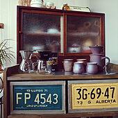 キッチン/古い家を楽しむ/古い家に住む/キッチンワゴンDIY/じいちゃんの作った食器棚...などのインテリア実例 - 2021-09-26 08:29:07